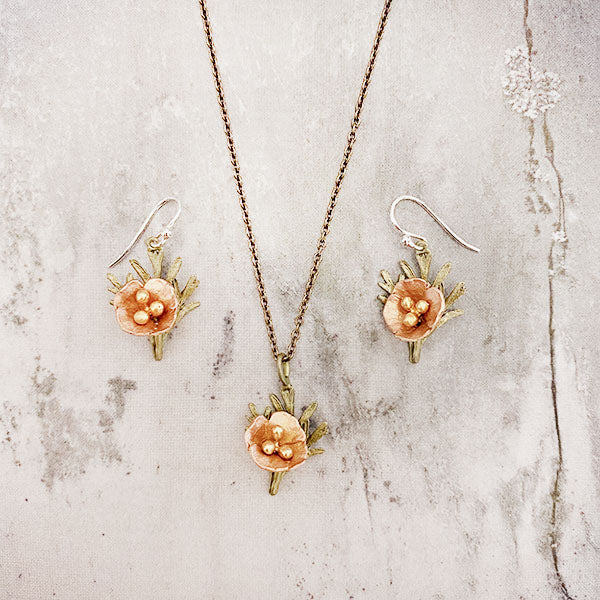 California Poppy Necklace