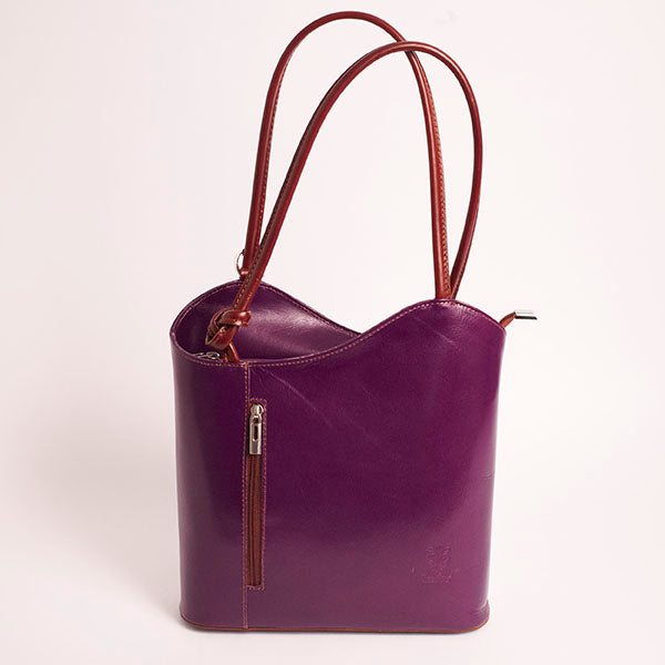 Purple Italian Varese Handbag/Backpack