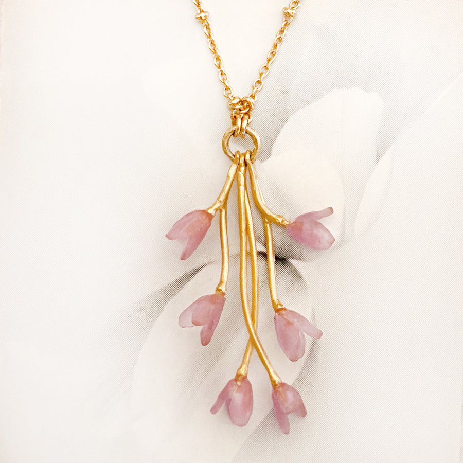 Apple Blossom Branch Necklace