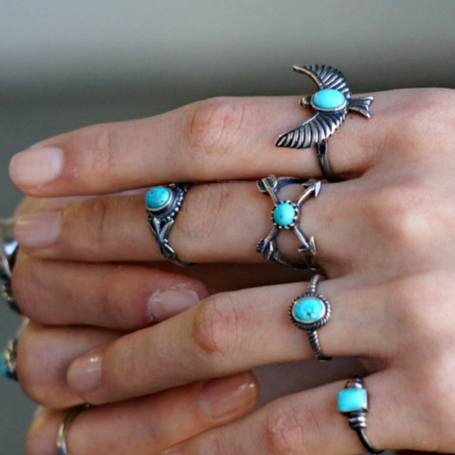 Cross Arrow Turquoise Ring