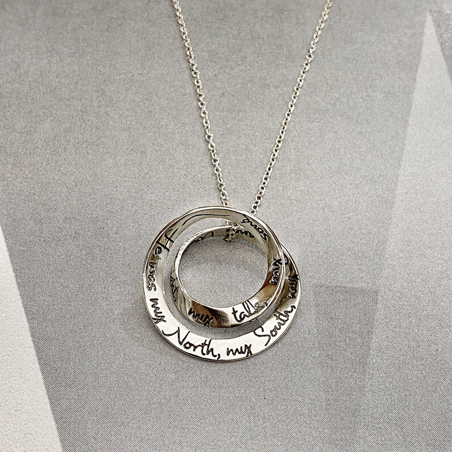 Stop All The Clocks Double Mobius Pendant