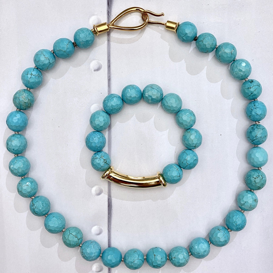 Turquoise Lasso Hook Necklace