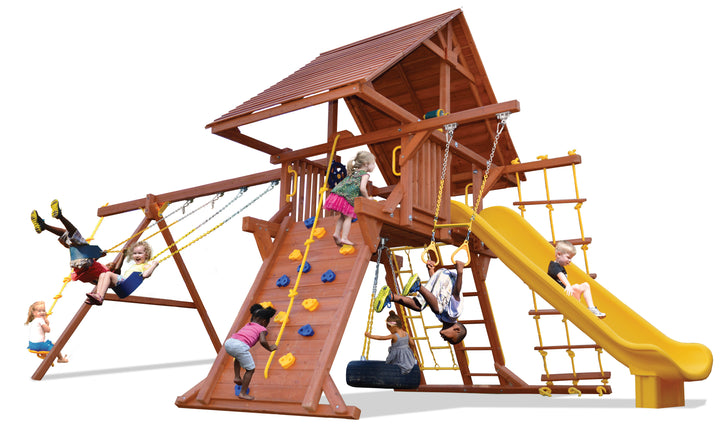 Turbo Deluxe Playcenter Combo 2 with Wood Roof (27B)