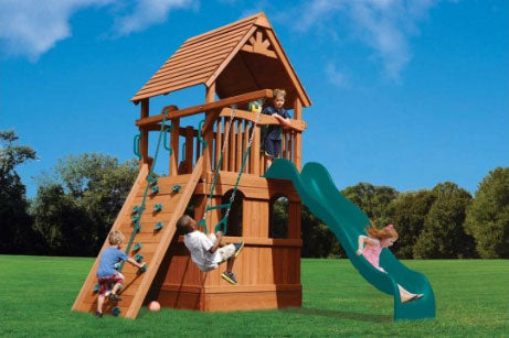 Deluxe Fort Jr. with Lower Enclosure Playhouse (37B)