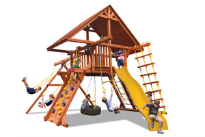 Deluxe Playcenter Combo 2 with Wood Roof (19B)