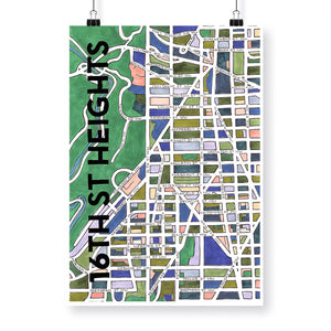 Neighborhood Map Prints