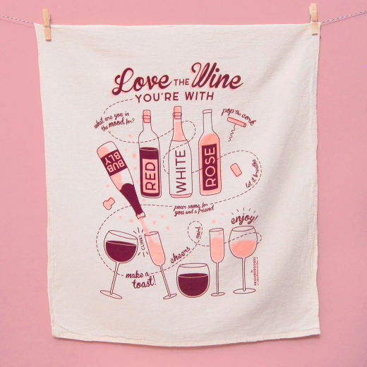 Love The One You're With Dish Towel