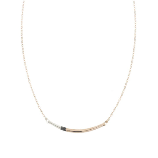Tri-Tone Arc Necklace