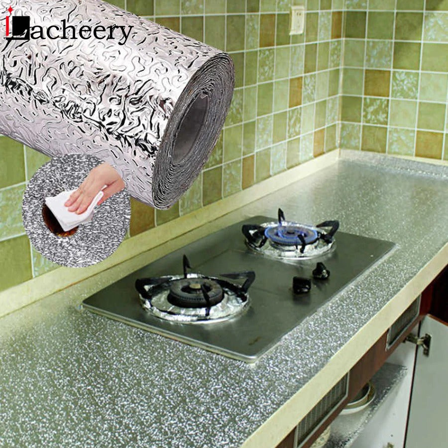 Kitchen waterproof and oil proof sticker aluminum foil stove