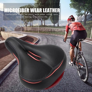 2020 Saddle Bicycle Seat Comfortable Wide Big Bum Bicycle Soft Saddle With Highlight Tail Light Riding Equipment Accessories