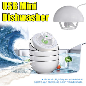 Portable Ultrasonic Washing Machine Dishwasher