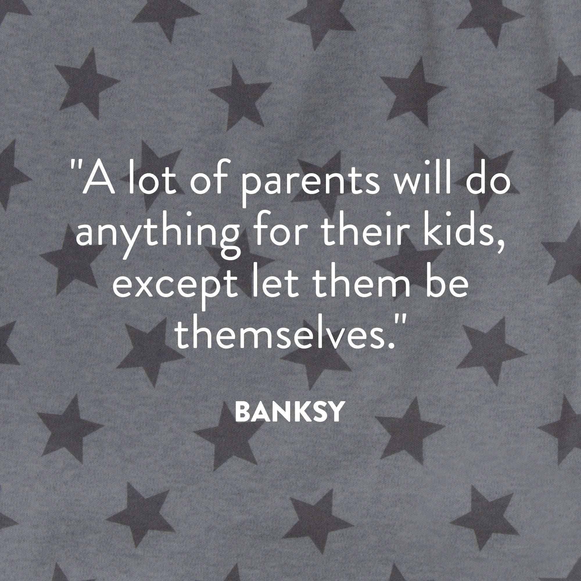 Banksy quote graphic