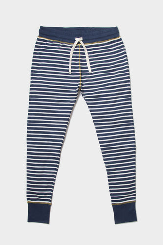 Indigo Striped Lounge Pants