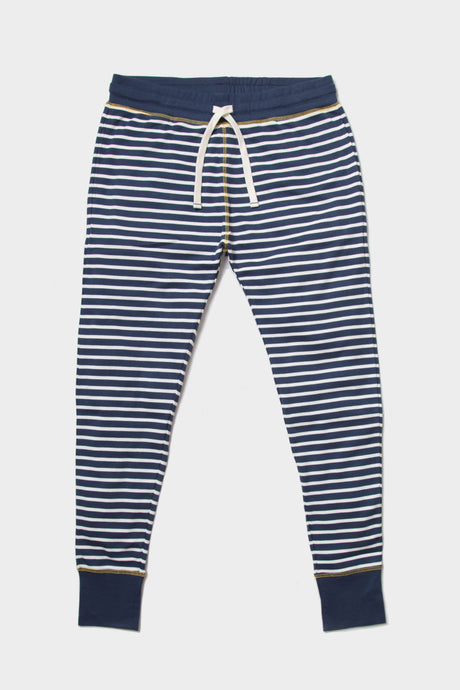 Indigo Striped Lounge Pants - Sustainable Vegan Cotton (Unisex)