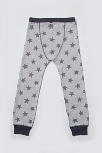 kids grey marl star loungewear bottoms
