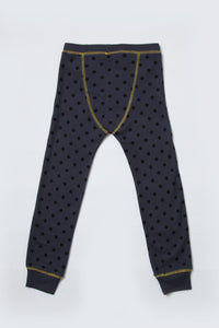 kids charcoal dot loungewear bottoms