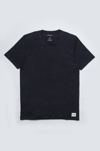 adult cotton slub black tshirt
