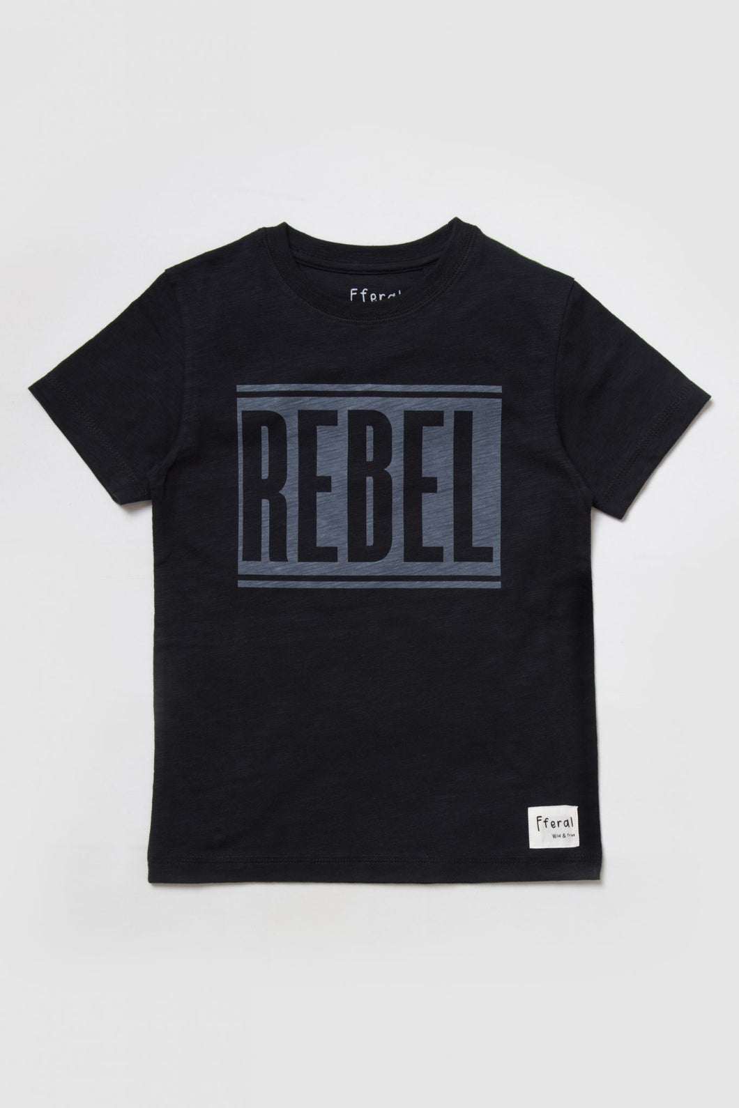 kids cotton tshirt with rebel print