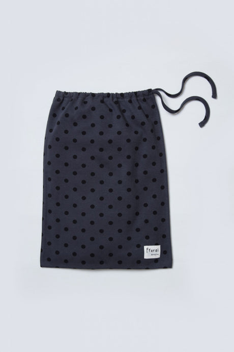charcoal dot loungewear bag