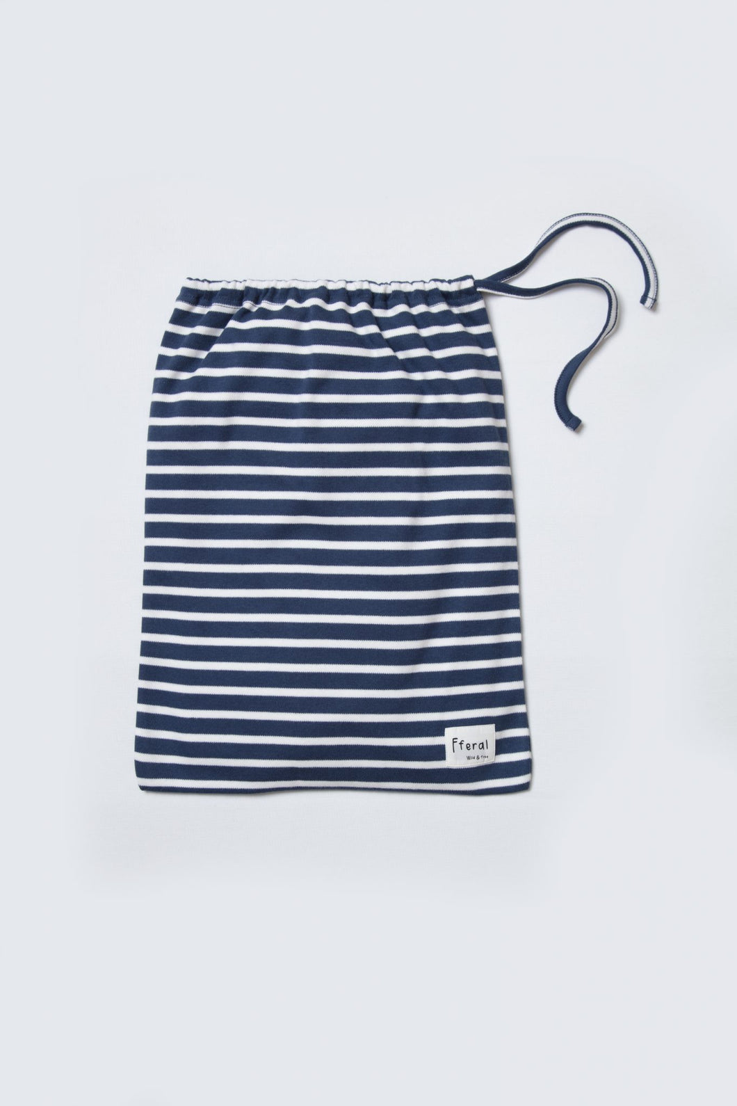 indigo stripe loungewear bag