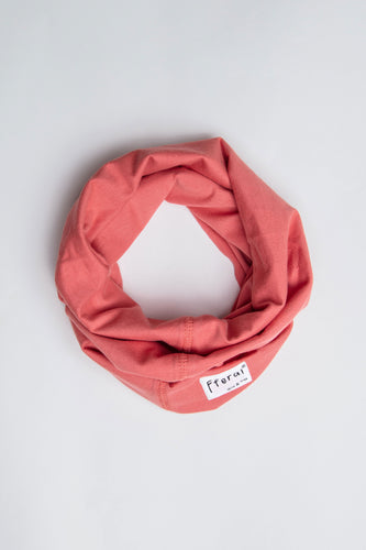 Sustainable Cotton Neck Gaiter Coral