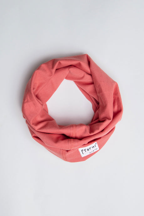 Neck Gaiter - Coral Pink - Sustainable Cotton