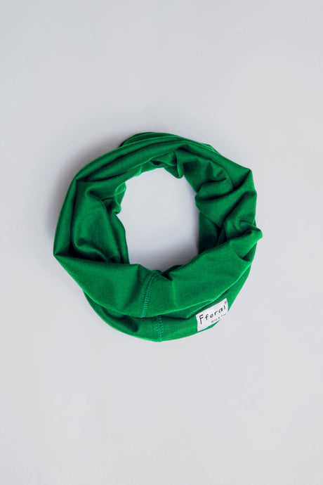 Neck Gaiter - Bright Green - Sustainable Cotton