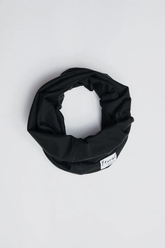 Sustainable Cotton Neck Gaiter Black