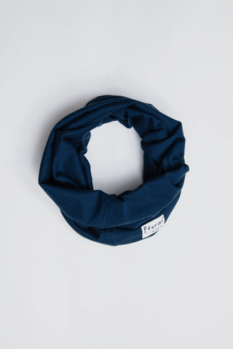 Sustainable Cotton Neck Gaiter Navy