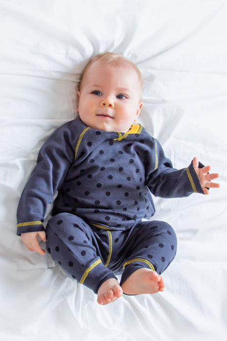 Polka Dot Pyjama Set - Sustainable Vegan Cotton (Unisex)