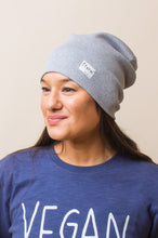 Load image into Gallery viewer, Grey Marl Ribbed Beanie - Sustainable Vegan Cotton (Unisex)