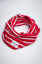 Load image into Gallery viewer, Neck Gaiter - Red & White Stripe - Sustainable Cotton