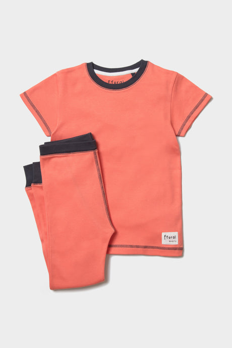 Coral Pyjama Set - Sustainable Vegan Cotton (Unisex)