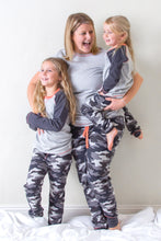 Load image into Gallery viewer, Pyjama Set - Grey Marl & Camo - Sustainable Vegan Cotton (Unisex)