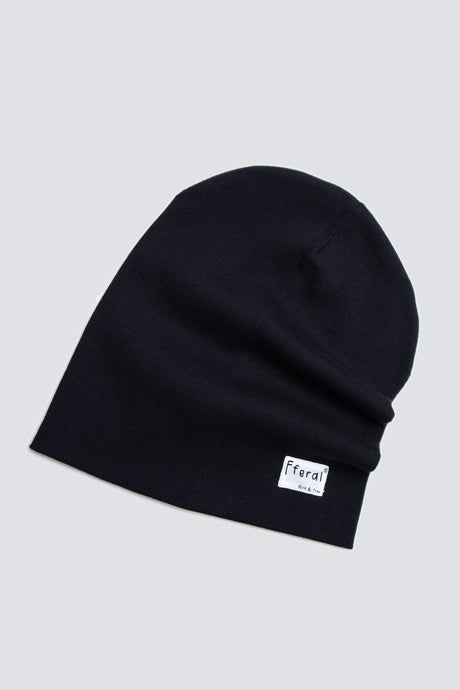 Black Beanie - Sustainable Vegan Cotton (Unisex)