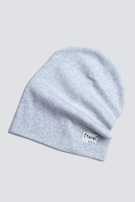 Light Grey Marl Beanie - Sustainable Vegan Cotton (Unisex)
