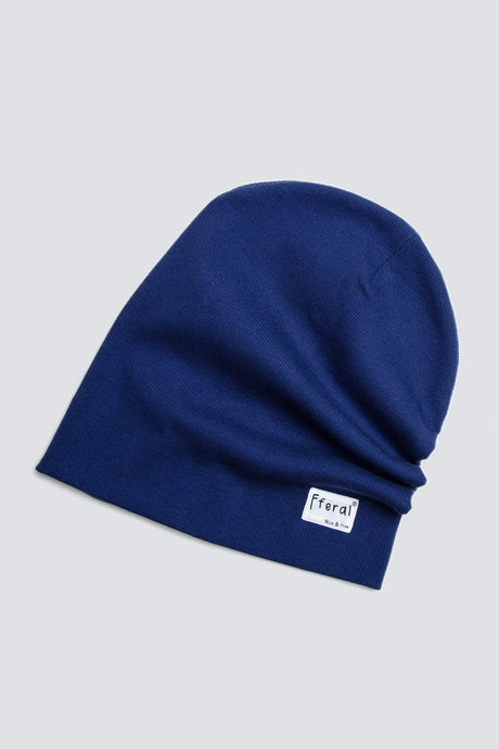 Indigo Blue Beanie - Sustainable Vegan Cotton (Unisex)