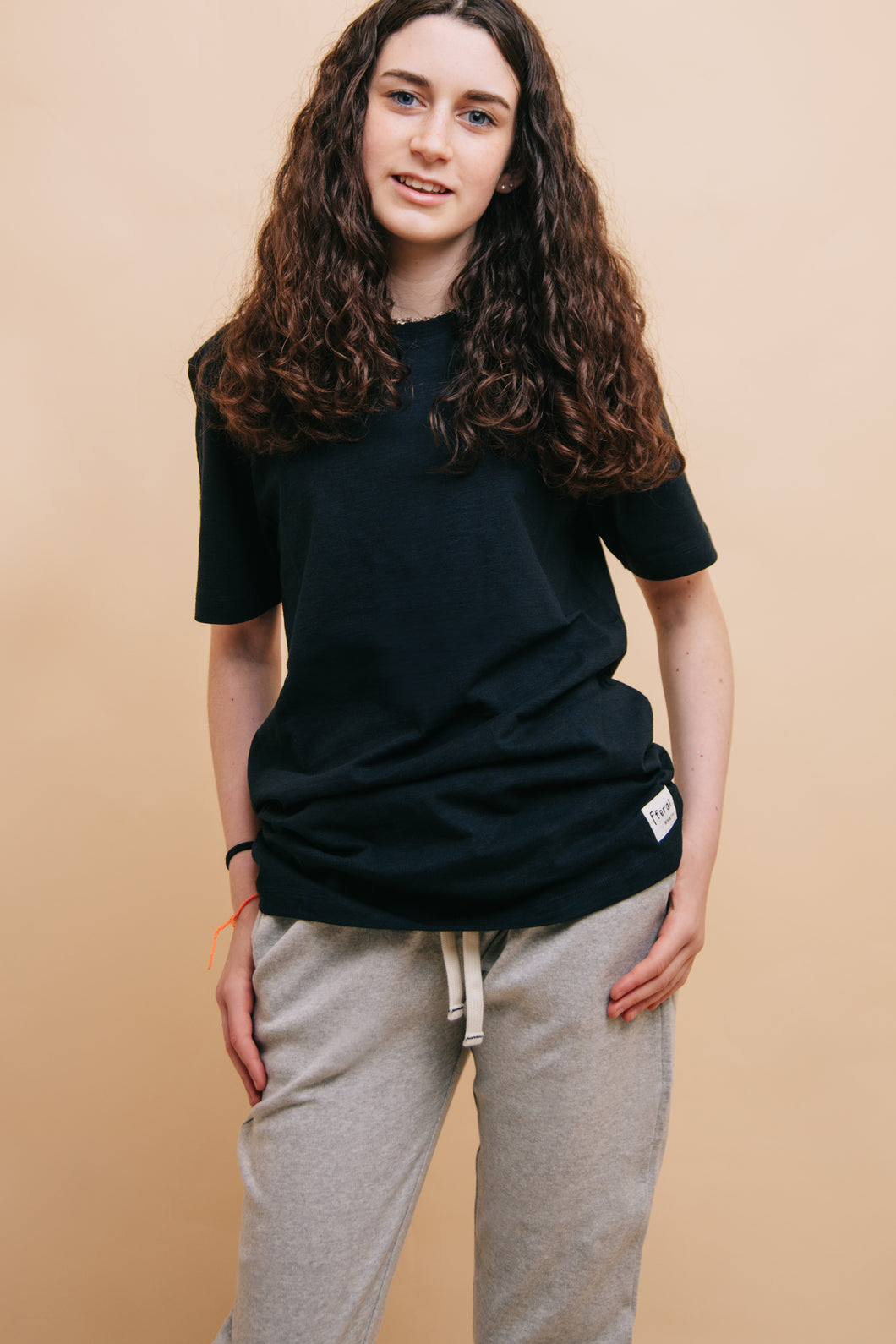 Black Slub T-Shirt - Sustainable Vegan Cotton (Unisex)