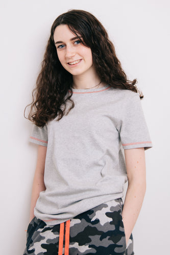 Grey Marl Lounge Top - Sustainable Vegan Cotton (Unisex)