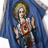 Mens Virgin Mary Printed T Shirt Oversize Vintage Tshirts