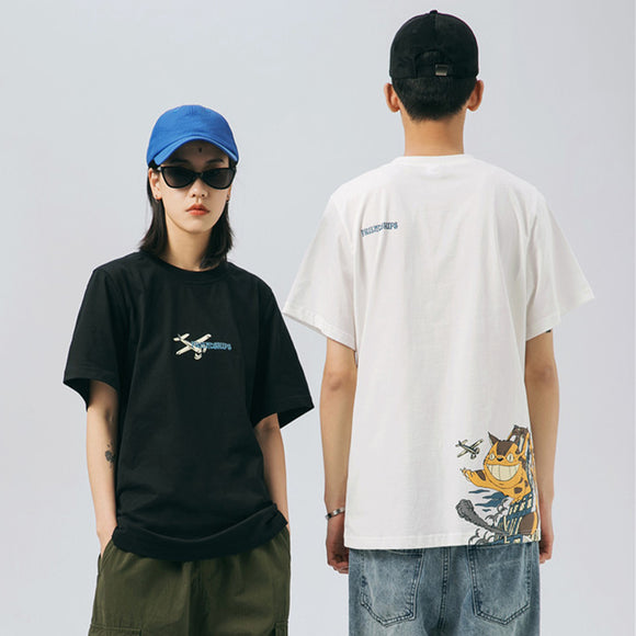 Graphics Printed Mens Women T Shirt Oversize Black Tshirts 2020 Summer Unisex