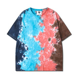Mens Tie Dye T-shirt 2020 Summer HipHop Unisex Round Neck
