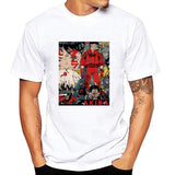 white plus size 100% Cotton O Neck Custom Printed Akira T shirt Men fashion