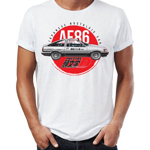 Men's T Shirt Initial D Ae86 Awesome Artwork Printed Tee