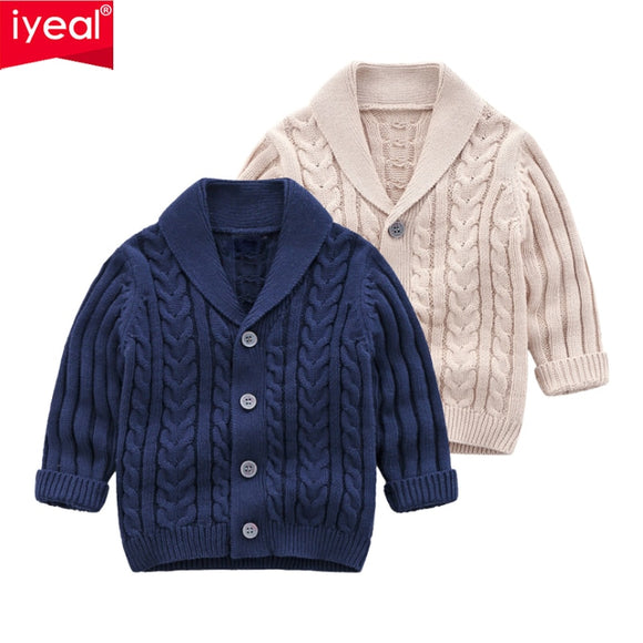 IYEAL Boys Cardigan Sweater 2020 New Fashion Children Coat Casual Spring Baby School Kids