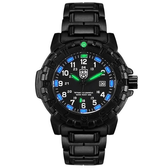 Addies Tritium Gas Luminous Male Watch Outdoor Sports More Function