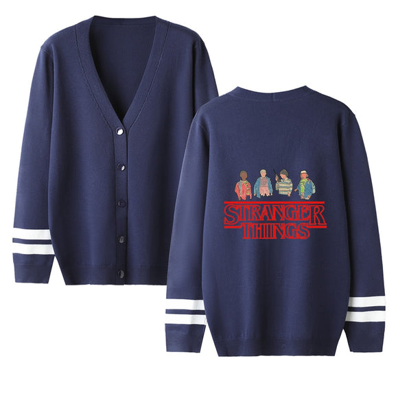 Personality Stranger Things Cardigan Sweater men/women Fashion Casual