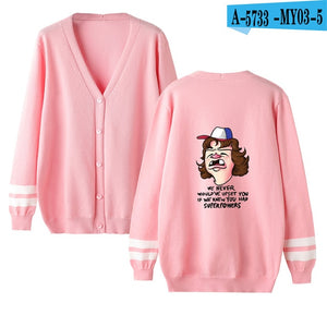 Funny Stranger Things Cardigan Sweater Brand men/women Fashion High Quality