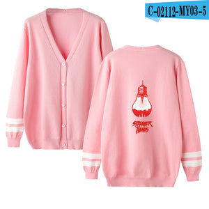 New arrival Stranger Things v-neck Cardigan Sweater men/women