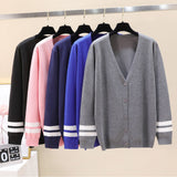 Hot Sale Stranger Things v-neck Cardigan Sweater men/women Fashion Gray Casua